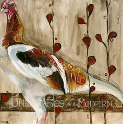 •Unripe Figs for a Modern Game Hen-SOLD