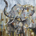 *•Ivory Tower, African Elephants- SOLD