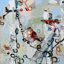 °Two Red Sparrows - SOLD